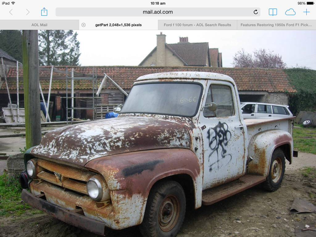 Ford F100 Refurb The Hamb 1950s Imageuploadedbyhamb1400786733396495