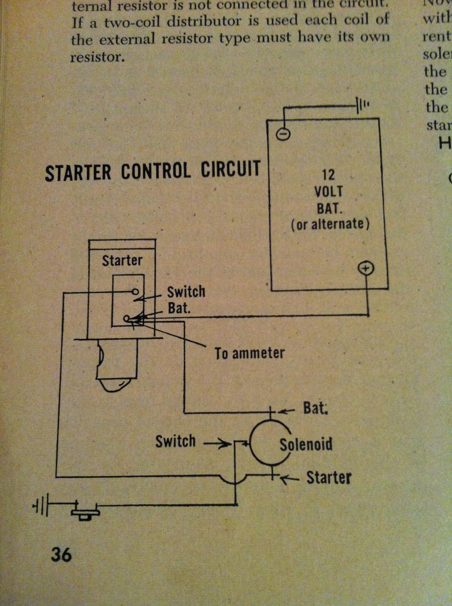 1955-56 Chevy Starter Wiring: Why Is There No
