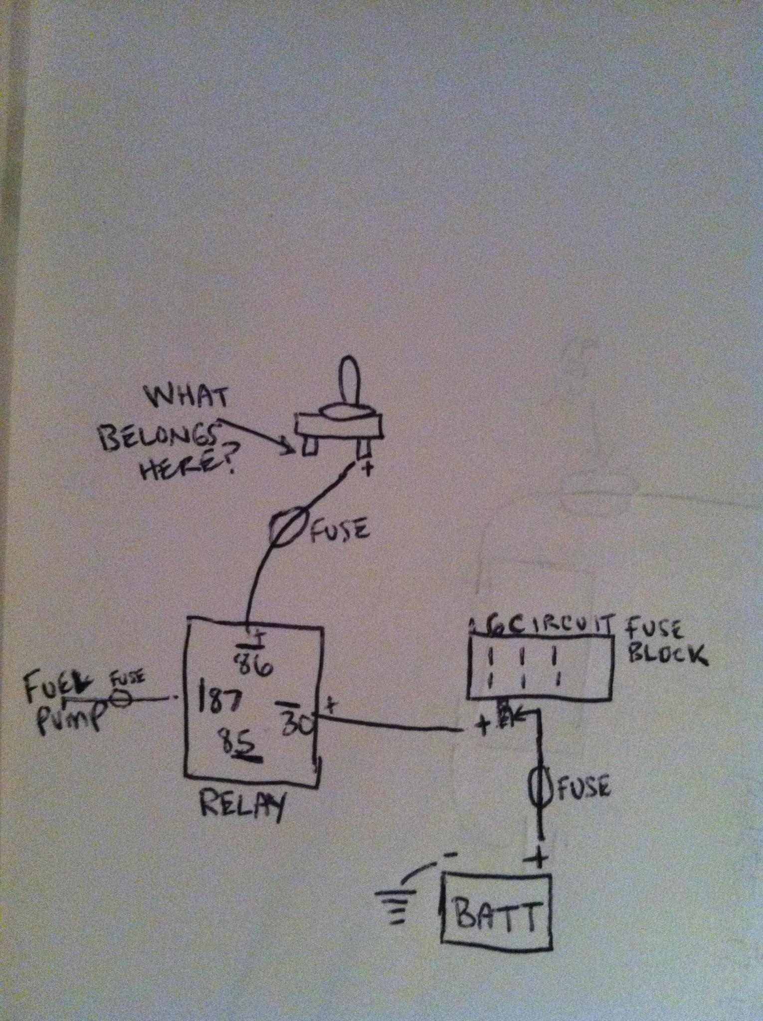 electrical wiring (fuel pump with relay and toggle) the h a m b electric fuel pump relay wiring diagram at edmiracle.co