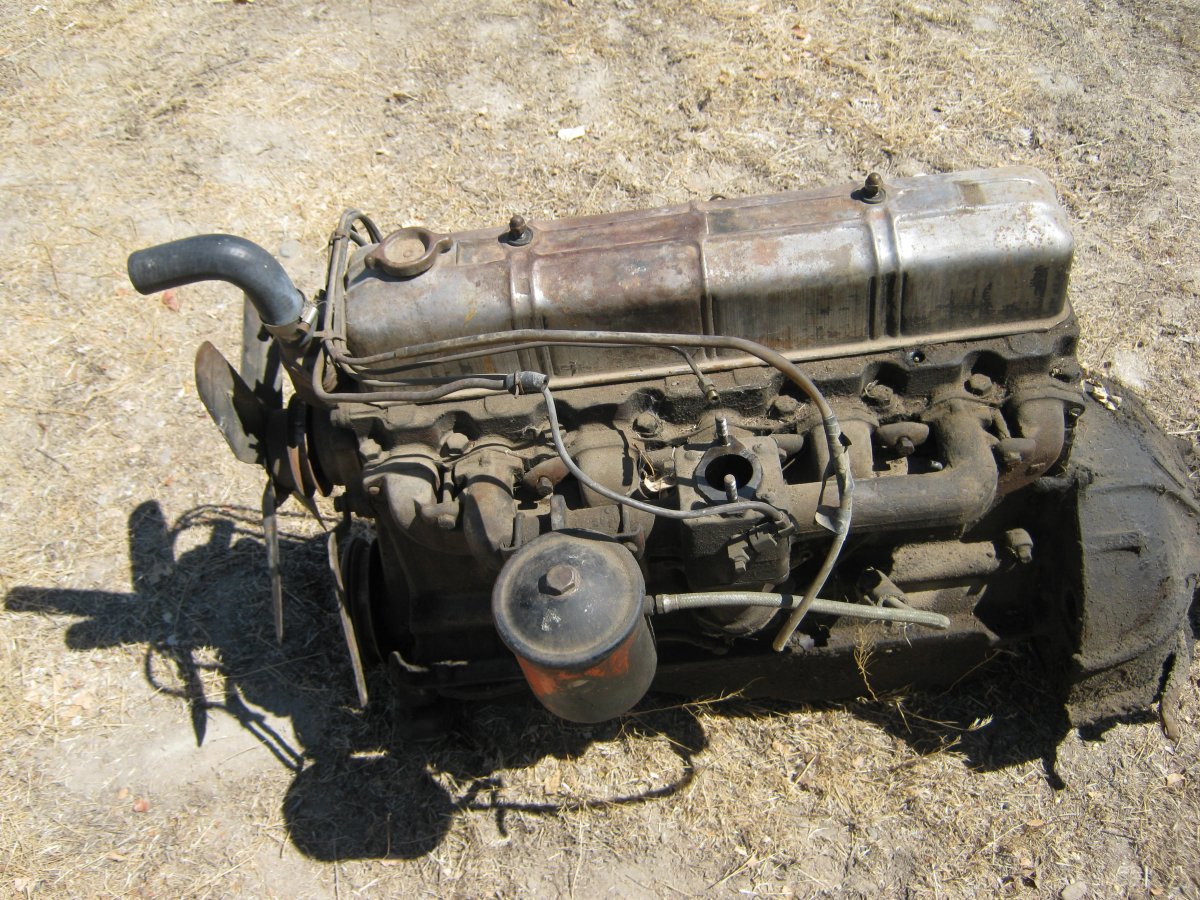 All Chevy chevy 216 engine : 1950 CHEVY STYLELINE ORIGINAL 216 ENGINE & MANUAL TRANSMISSION ...