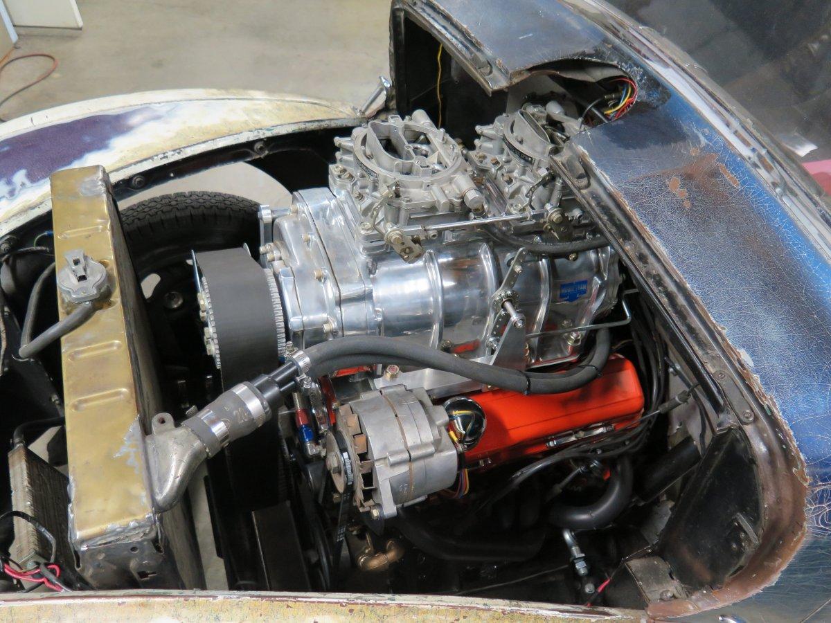 """Chevy Small Big Block Aluminum Radiator 23/"""" X 19/"""" Universal SBC BBC Hot Rat Rod"""
