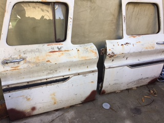 62 chevy c10 doors  no speaker holes cut  rust was cut out in the bottom corners of the doors. one was repaired . buy one or both . & 1962 chevy c10 doors | The H.A.M.B.