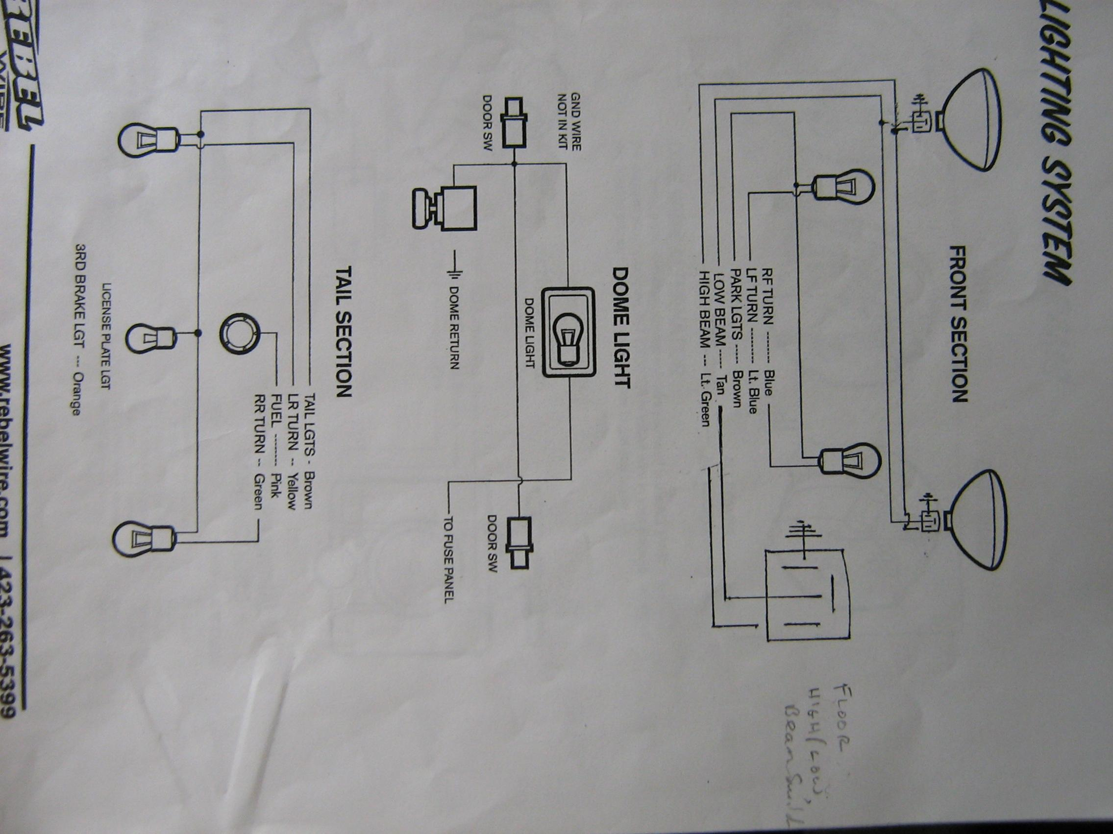 Rebel Wiring Harness Instructions Wire Center Ez Diagram Hot Rod Lets See Diagrams For The H A M B Rh Jalopyjournal Com Universal Street
