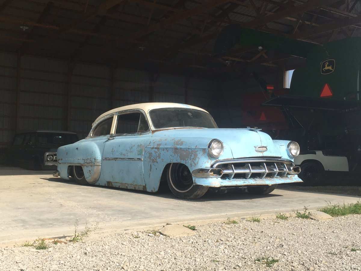 All Chevy 1954 chevy : 1954 Chevy Bel Air, 2 door, Slammed, Gambino Kustoms, project ...