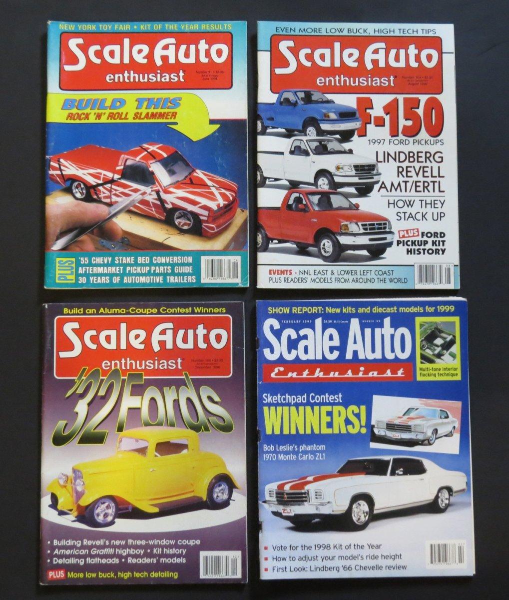 Scale Auto Enthusiast & Car Modeler Magazines 1988-2004
