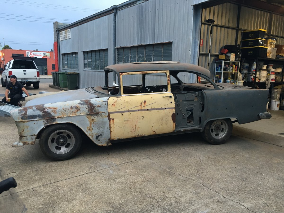 Projects Aus 55 Chevy Gasser Build The H A M B