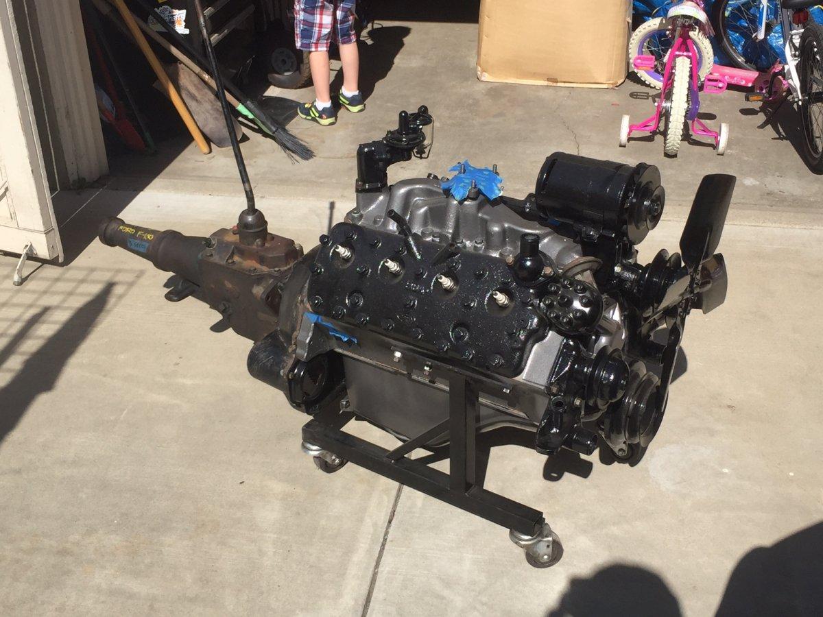 Ford Flathead 8BA Pro Rebuilt w/Trans   The H A M B