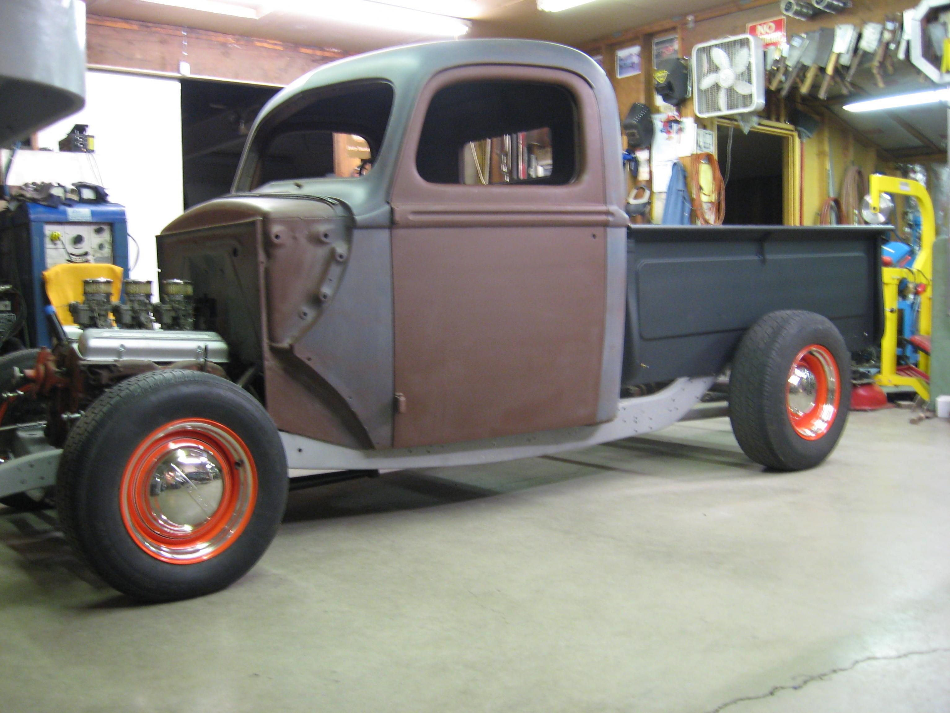 1940 ford bed dimensions
