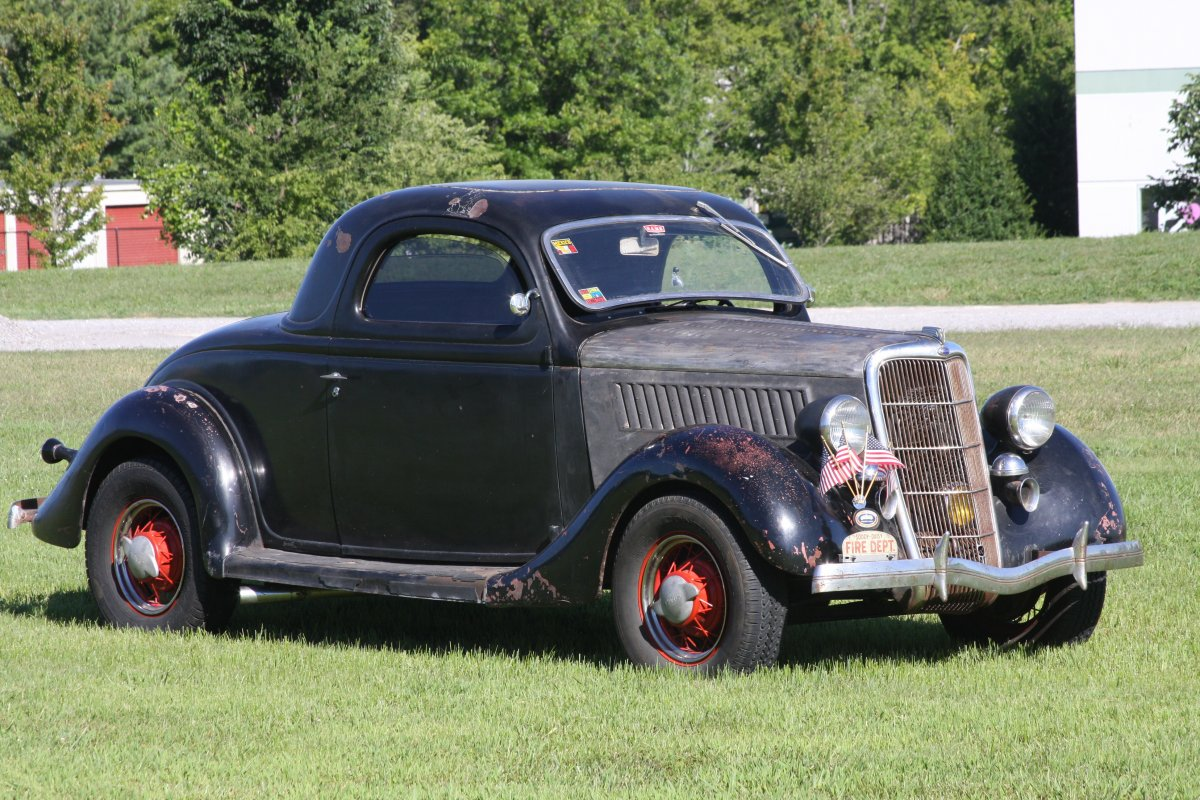 1935 ford 3 window coupe 49 mercury engine the h a m b for 1935 ford three window coupe