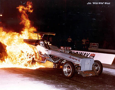 Jim West gets MIGHTY hot in the Wild, Wild West Jeep AA Fuel Altered! Photo thanks to Jim West.jpg