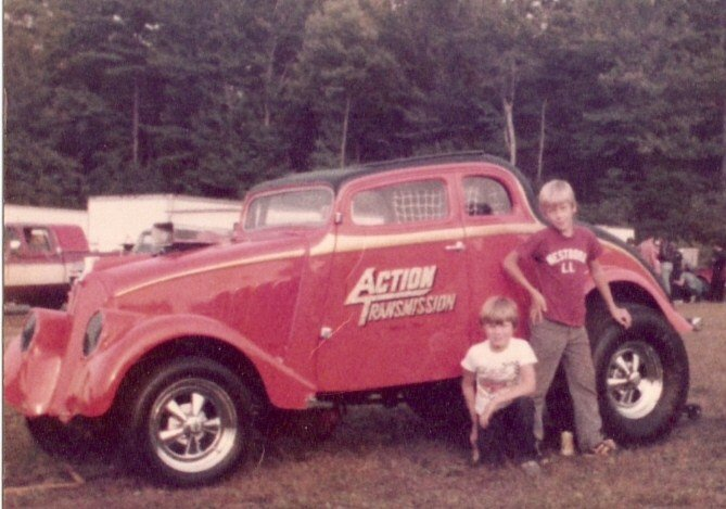 Jimmy and I at new england dragway,  1979.jpg