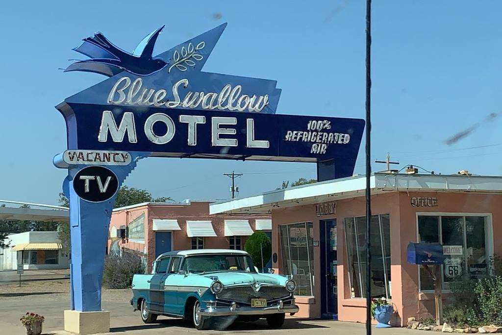 Jive-Bomber October 2020 Route66 Journey - The Blue Swallow Motel (1).jpg