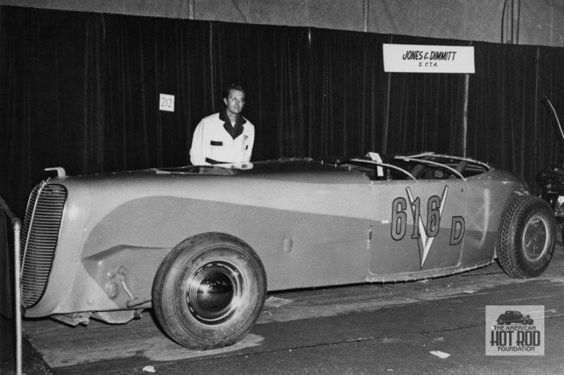 Jones _ Dimmitt V16 Cadillac powered Zephyr @ 1949 Hot Rod Expo.jpg