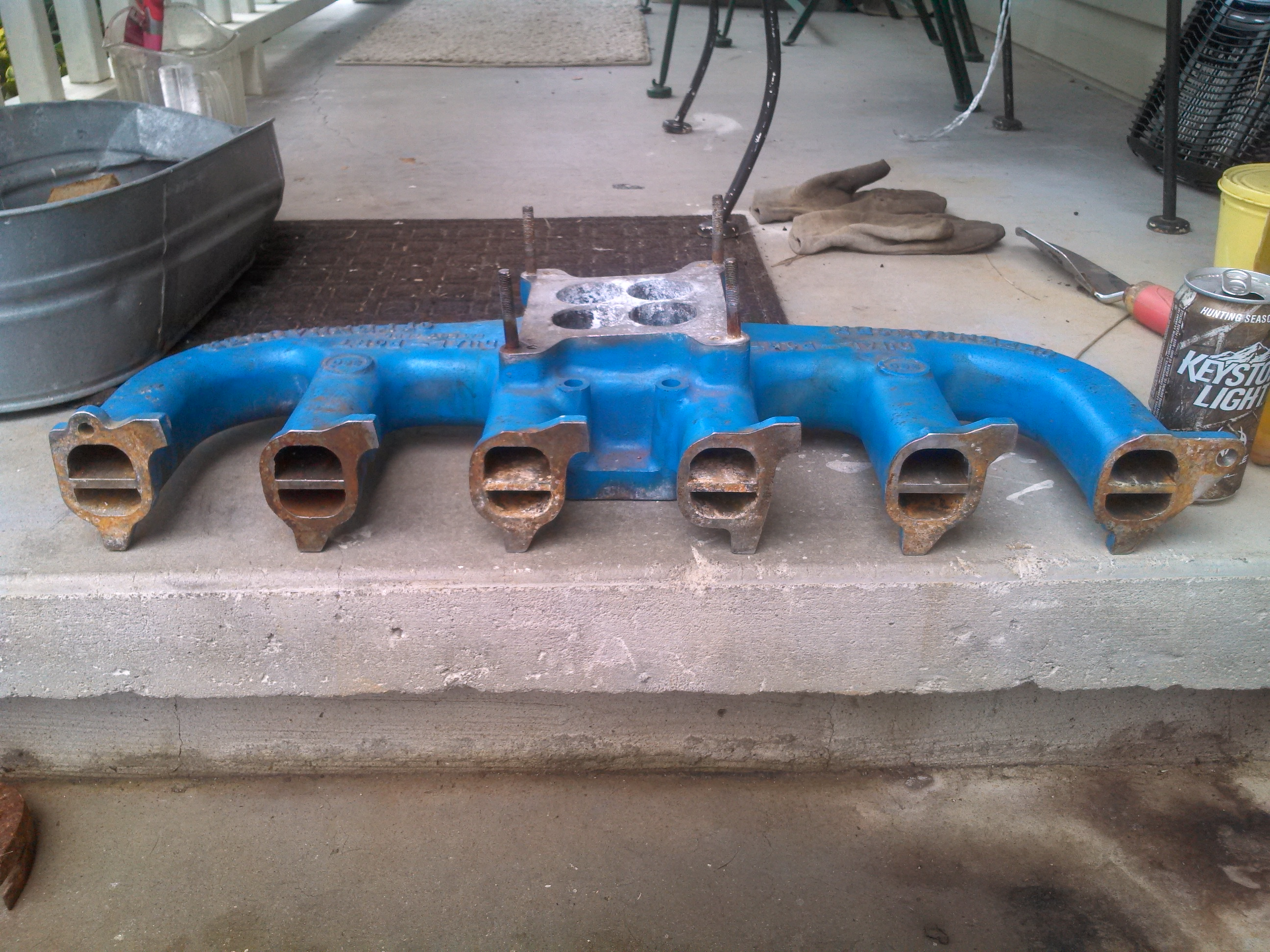 Offenhauser 4 Barrel Intake Ford 240 300 Inline 6   The H ...
