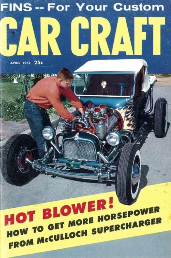Kookie Kar on cover of April 1957 Car Craft.jpg