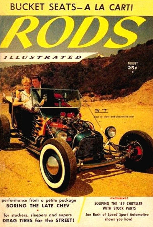 Kookie Kar on cover of August 1959 Rods Illustrated.jpg