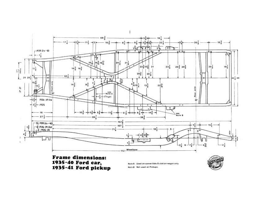 Technical - Wescott\'s \'36-\'40 Ford Frame Dimensions, Gospel? | The ...