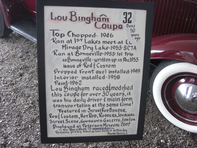 Lou Bingham Coupe @ R&S Auction Scottsdale Jan 2010 - Sign (by Al Liebmann).jpg