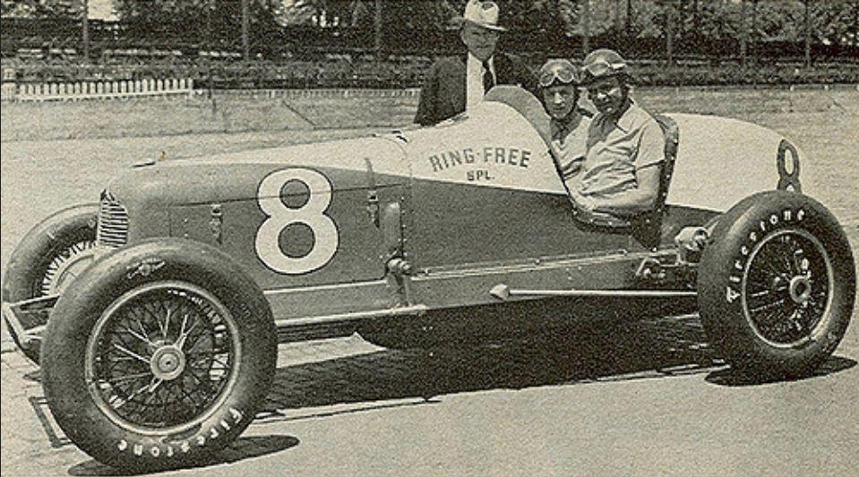 Louis Meyer& his mechanic, Lawson Harris, in their 1936 Indy 500 winner.JPG