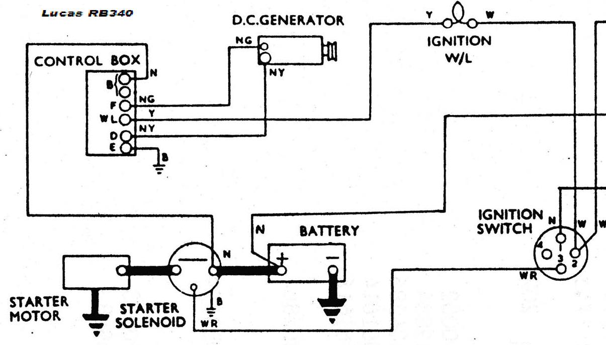 Lucas Generator Wiring Diagram 30 Images Positive Ground Coil Moreover Ford 8n 12 Volt For Voltage Regulator And Alternator At Cita
