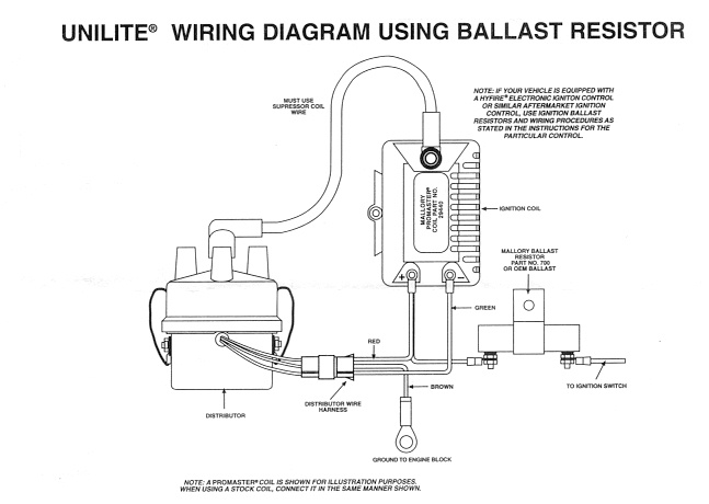 mallory hei ignition wiring diagram images mallory unilite distributor wiring diagram mopar b mallory