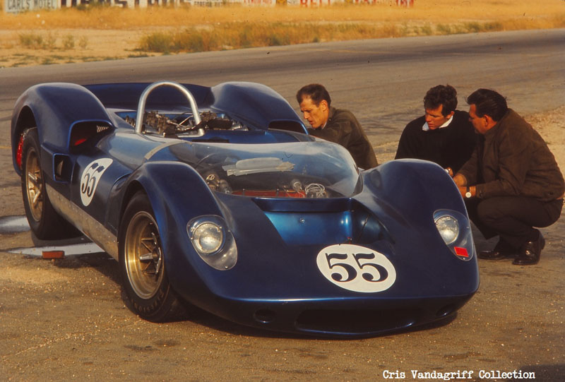 McLaren left to right, Doane Spencer, Jim Adams, and Chic Vandagriff of Hollywood Sports Cars.jpg