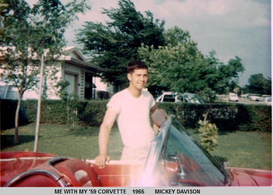 Mickey with my 59 Corvette.JPG