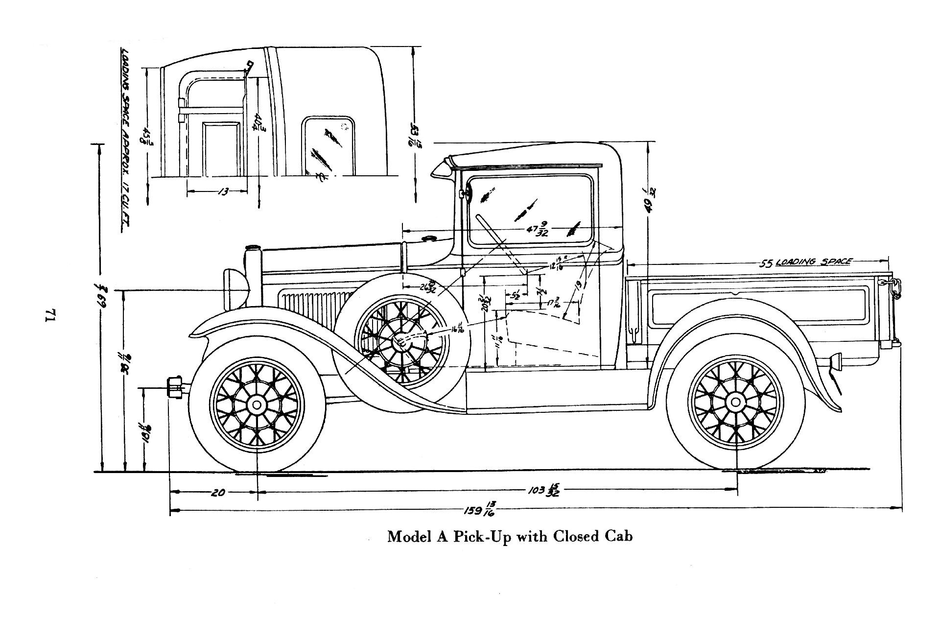 "Model ""A"" pickup bed length"