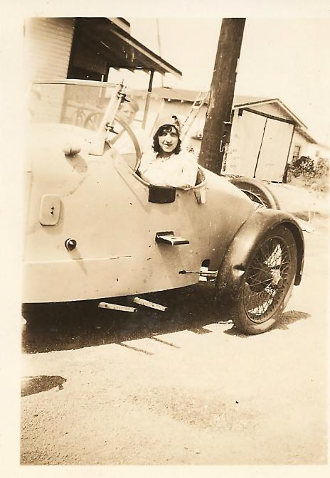 MOM in 1929 1st generation street rodder in a Mercury Speedster.jpg