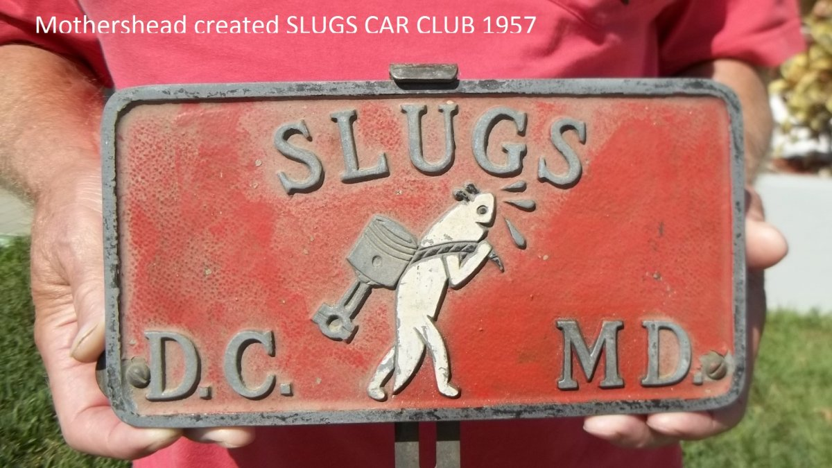 Replacement Vin Plate The Hamb 1957 Chevrolet Tag Mothershead Created Slugs Car Club In