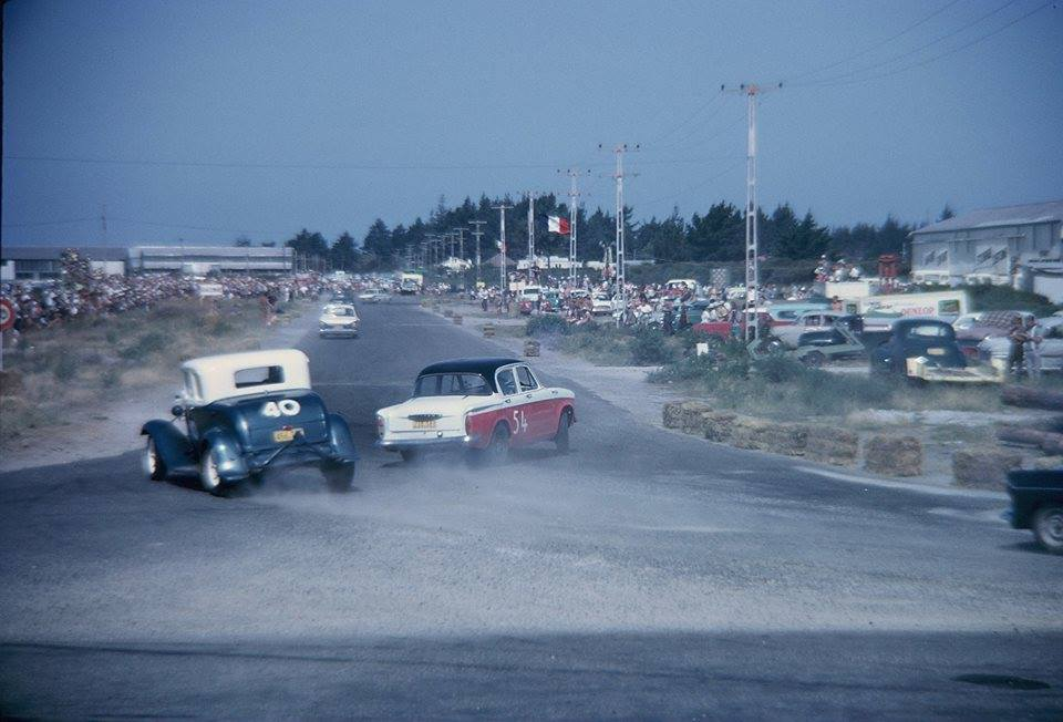 Mt Manganui Street Races 1963 Garth Souness V8 Coupe  Dennis Marwood  Humber 80.jpg