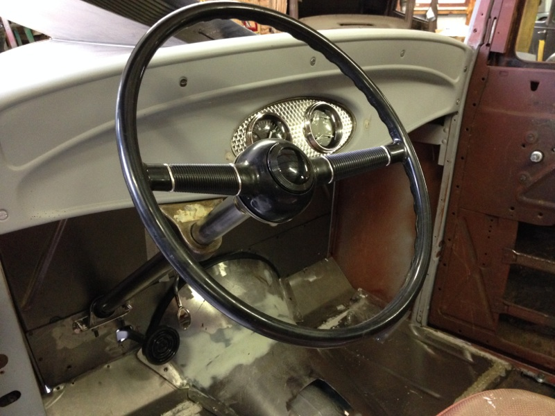 my 32 sedan project - steering wheel and dash.jpg