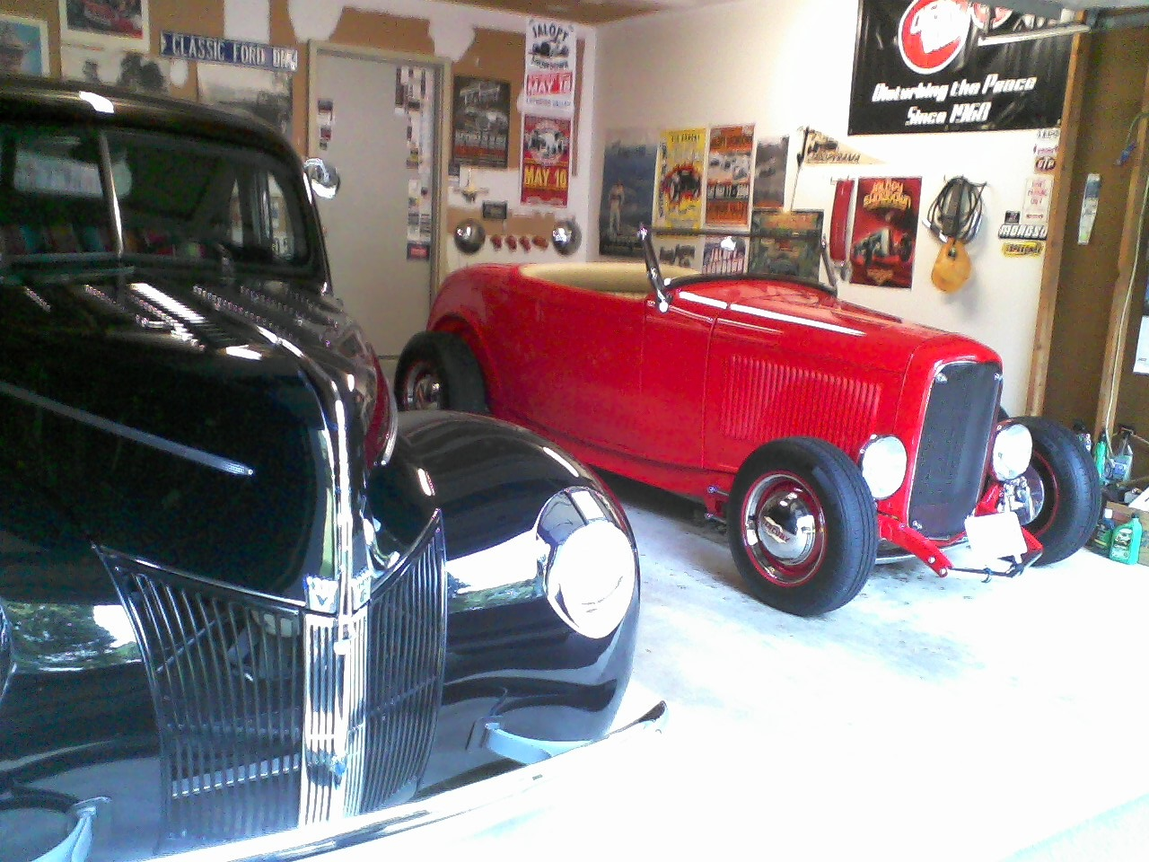 my roadster & \'40 Coupe.jpg