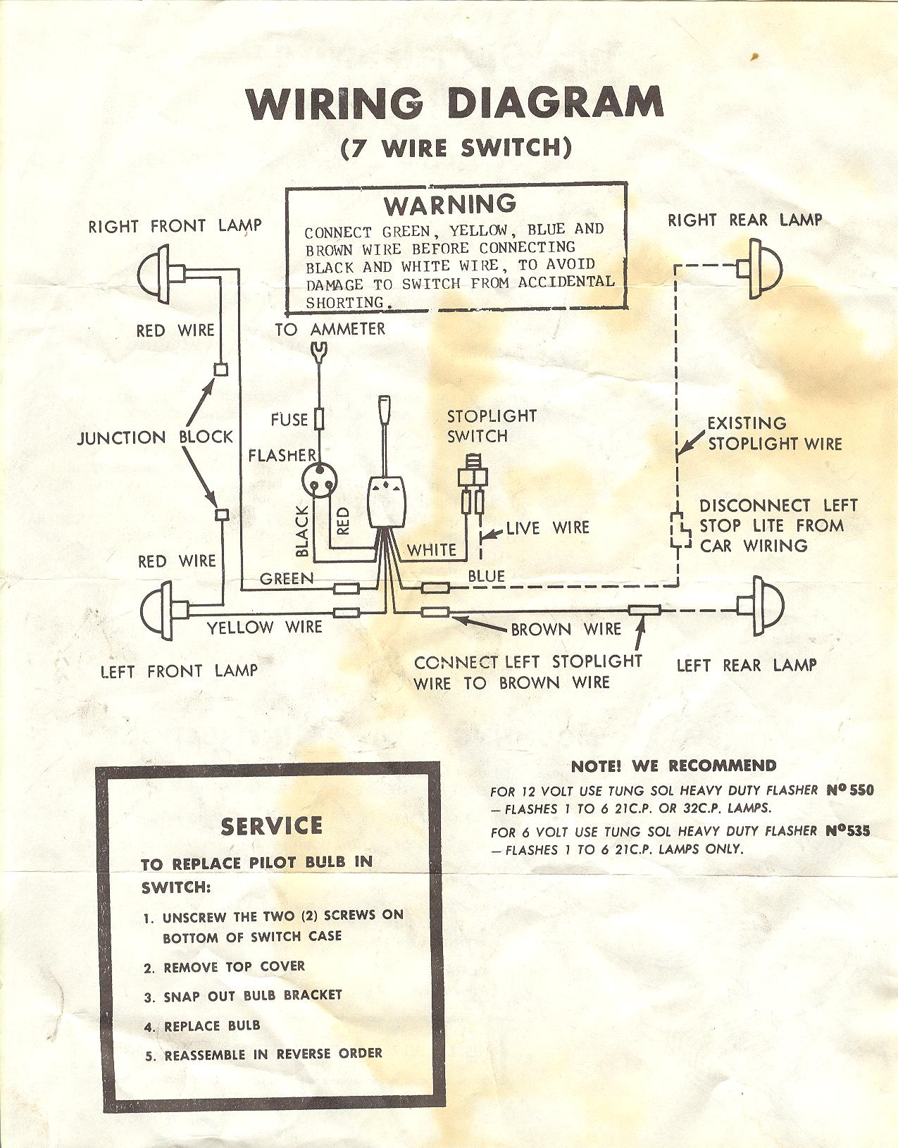 need some help old napa turn signals wiring diagram the h a m b Aftermarket Turn Signal Wiring Diagram napa turn signal switch01 002 jpg aftermarket turn signal wiring diagram