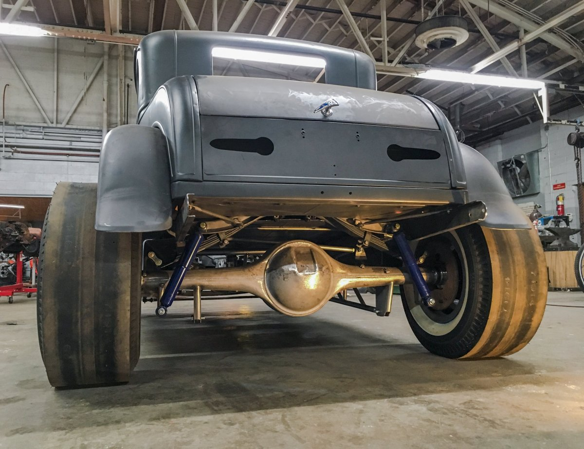 Narrowed 59 Pontiac Rear in Model A Coupe.jpg