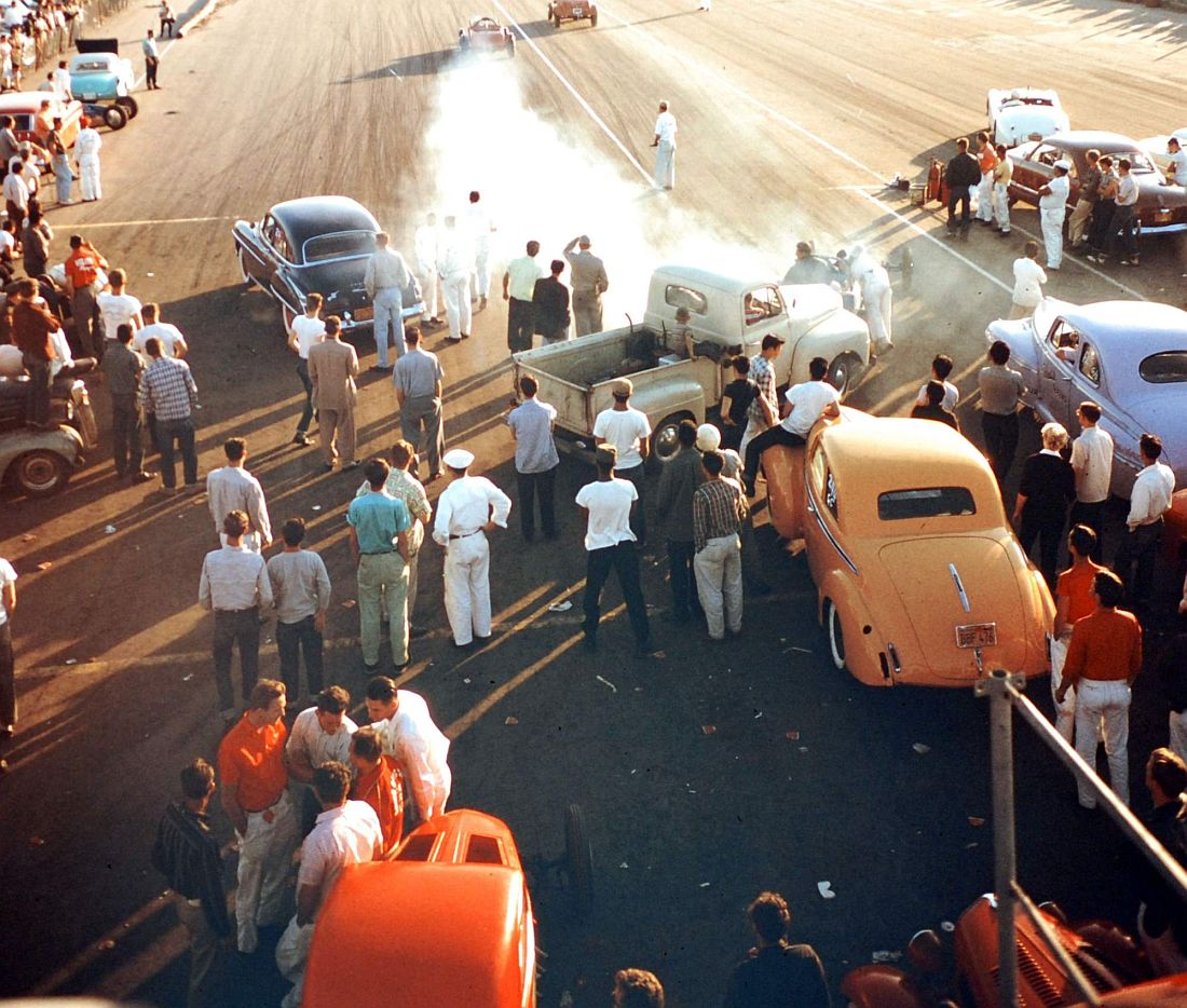 National Hot Rod Association's Drag Racing Meet Held in Santa Ana, Calif. Ralph Crane.jpg