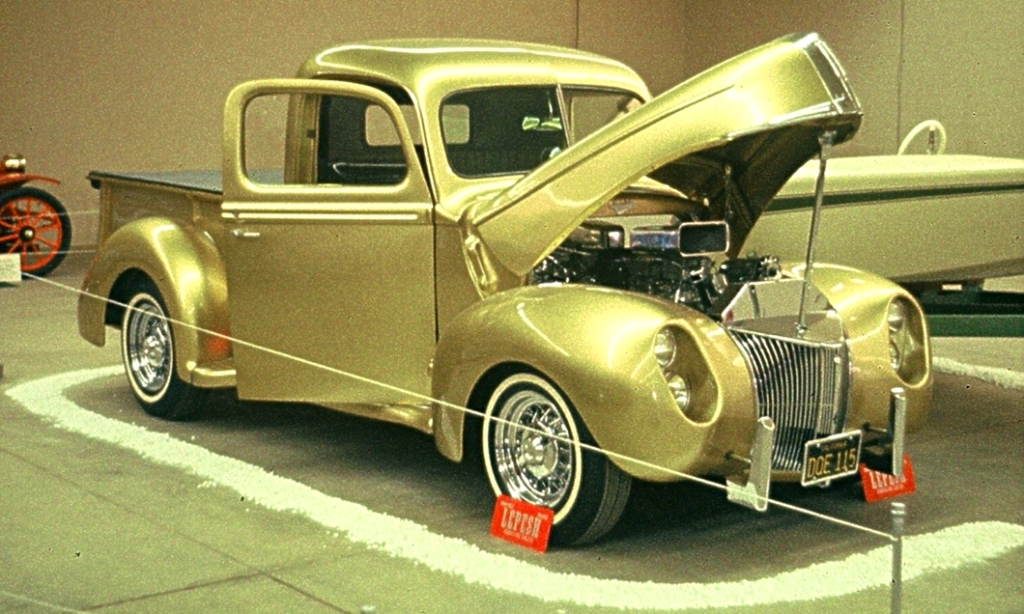 Nick Lepesh's Candy Gold Metalflake '41 Pickup at 1963 San Jose Car Autorama.jpg