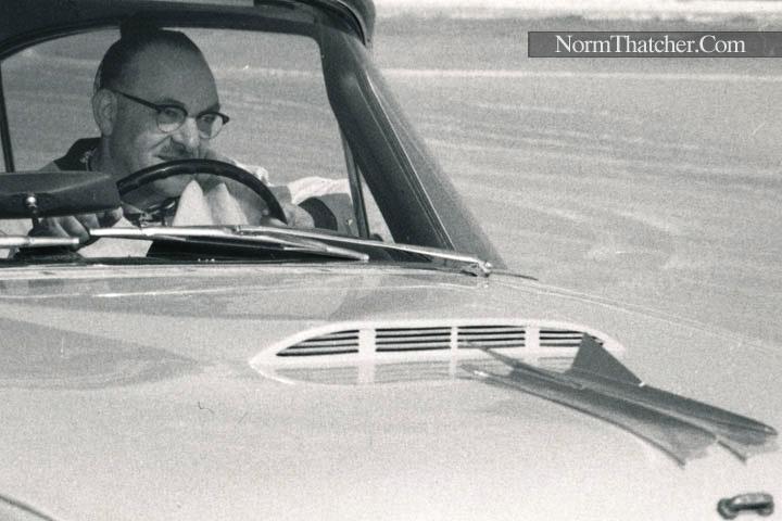 Norm Thatcher's '57 Dodge Coronet @ Daytona Beach in 1957 - pic 1 zoom 1.jpg