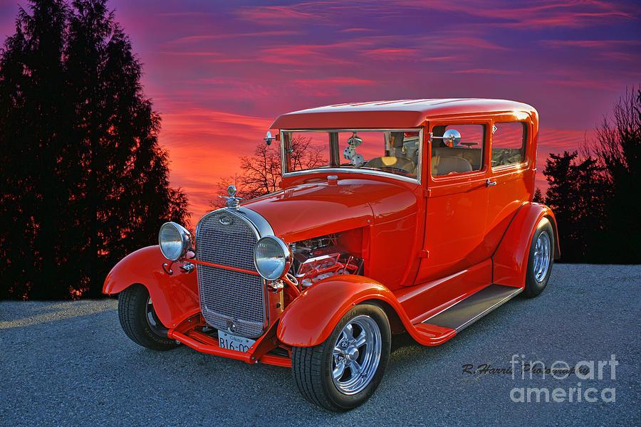 orange-ford-against-the-setting-sun-randy-harris.jpg