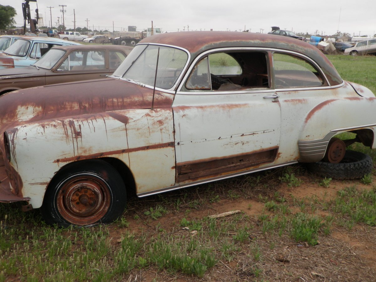 All Chevy 1952 chevy styleline parts : 1952 Chevy 2 door sedan parts car with title | The H.A.M.B.