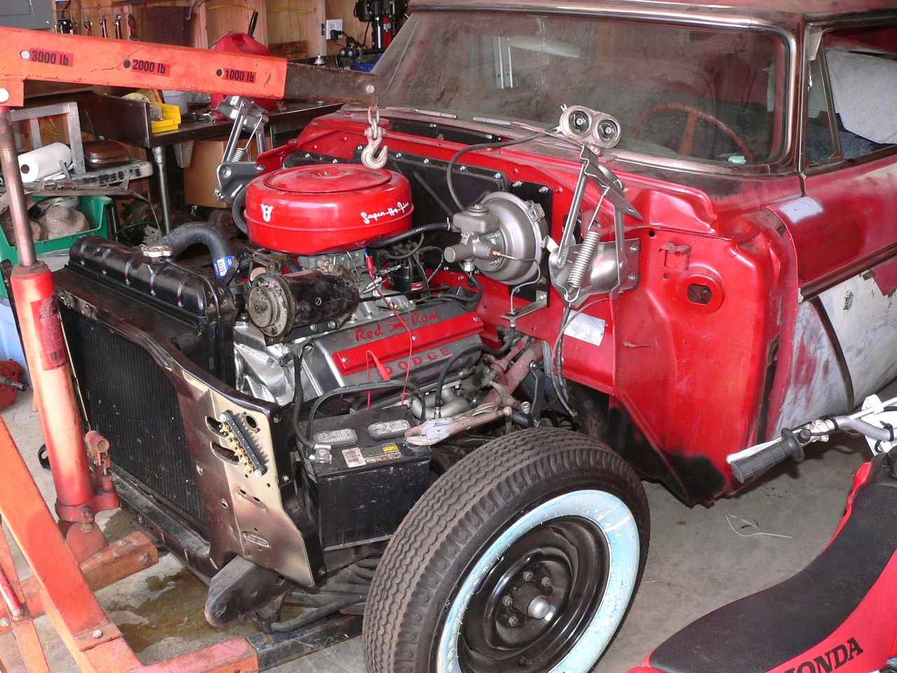 Early Dodge Hemi w/Plymouth Parts?   The H A M B