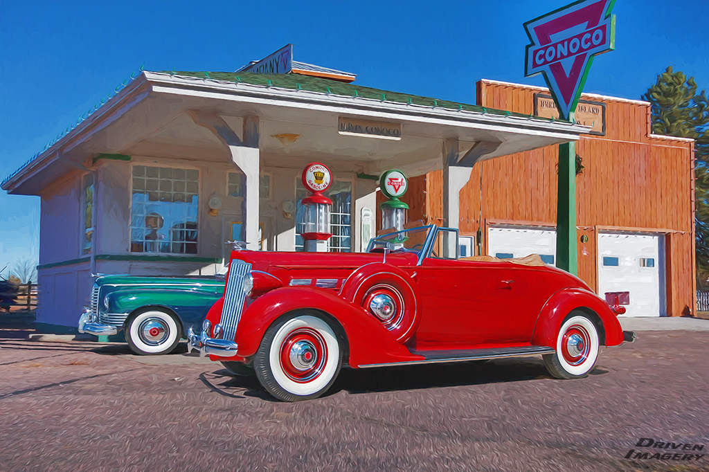 Packards at the Gas Station - R&G - Painted - Small.jpg
