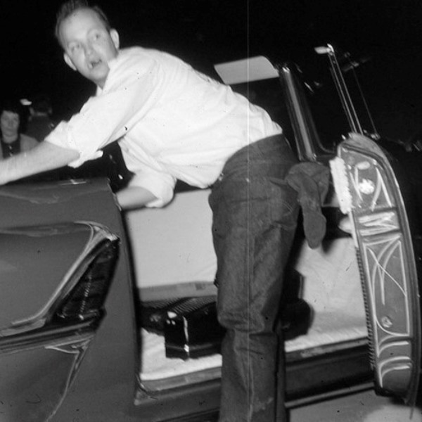 Paul Hatton Pinstriping at early Detroit Autorama.jpg