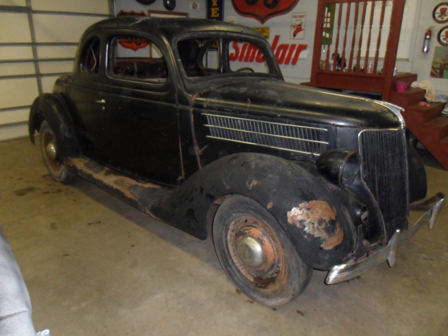 1936 Ford 5 Window Coupe Project With Extra Body And Parts