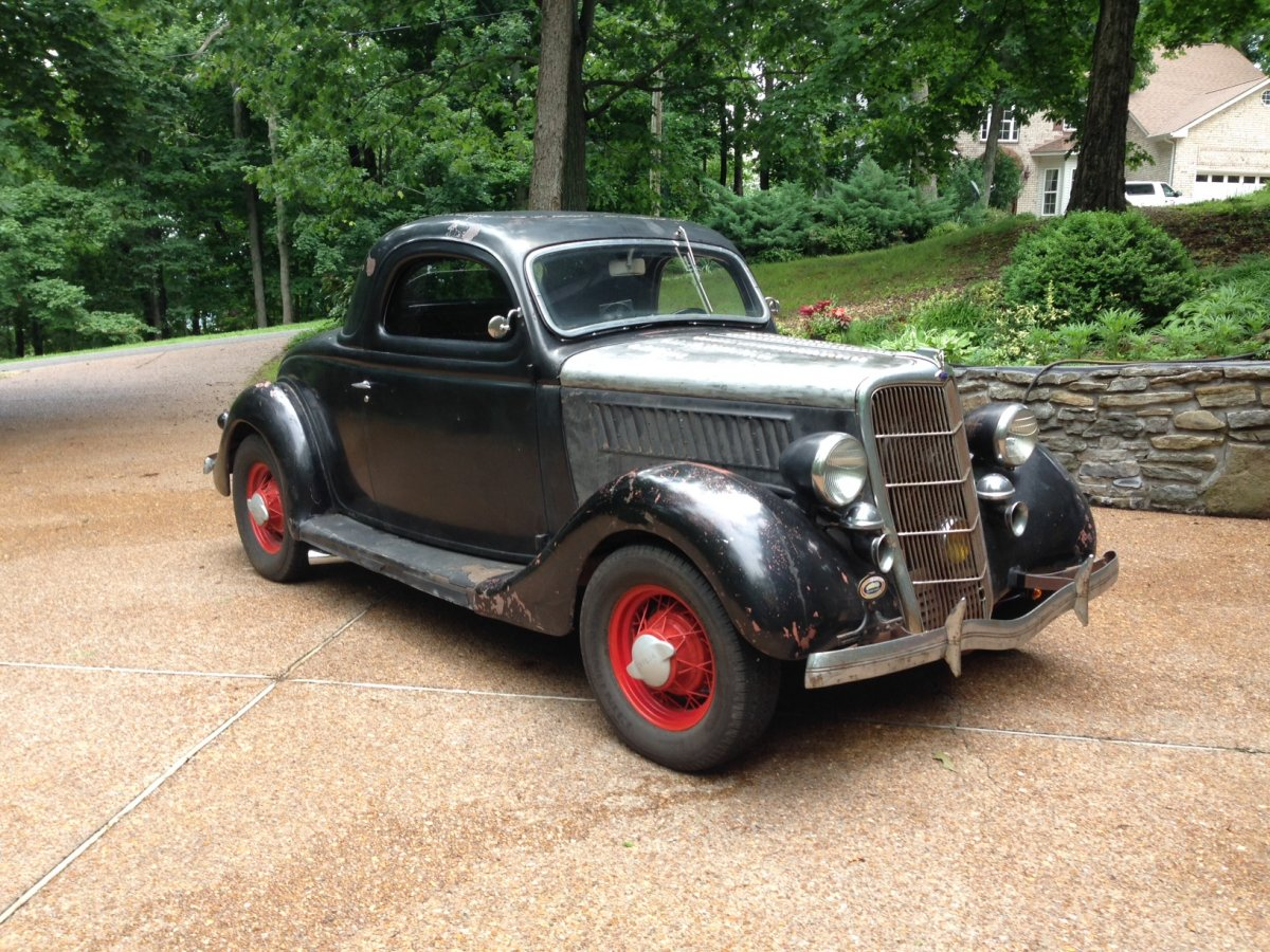 1935 ford 3 window coupe 49 mercury engine the h a m b for 1935 ford 3 window