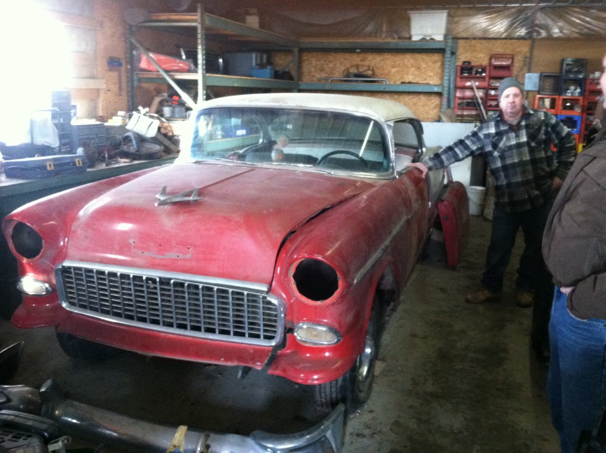 1955 chevy bel air 2 dr hardtop project car new pics added the h a m b. Black Bedroom Furniture Sets. Home Design Ideas