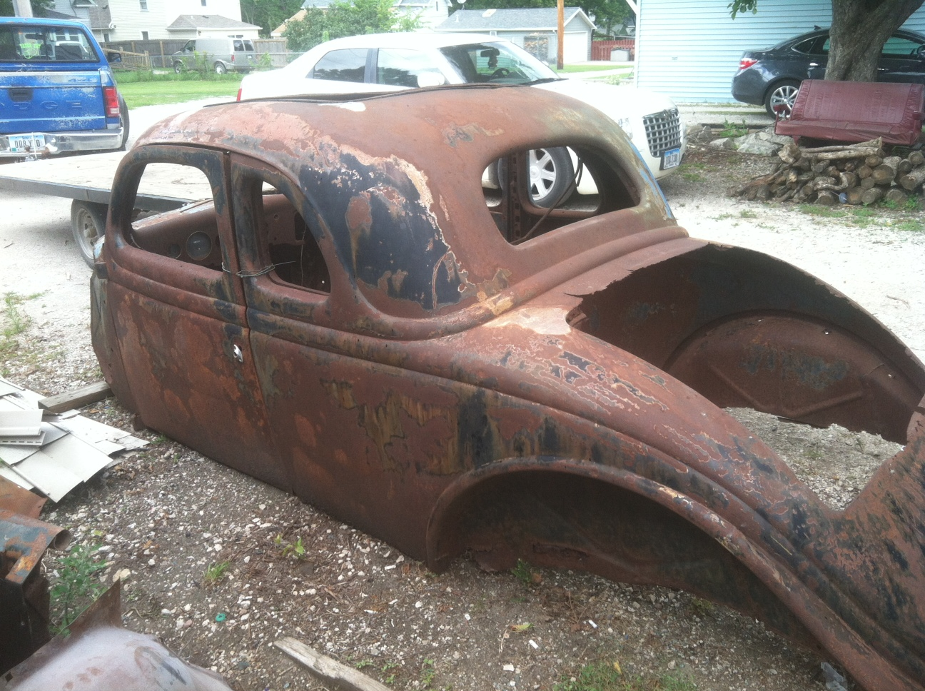 1936 Ford 5 window coupe project with extra body and parts.Price ...