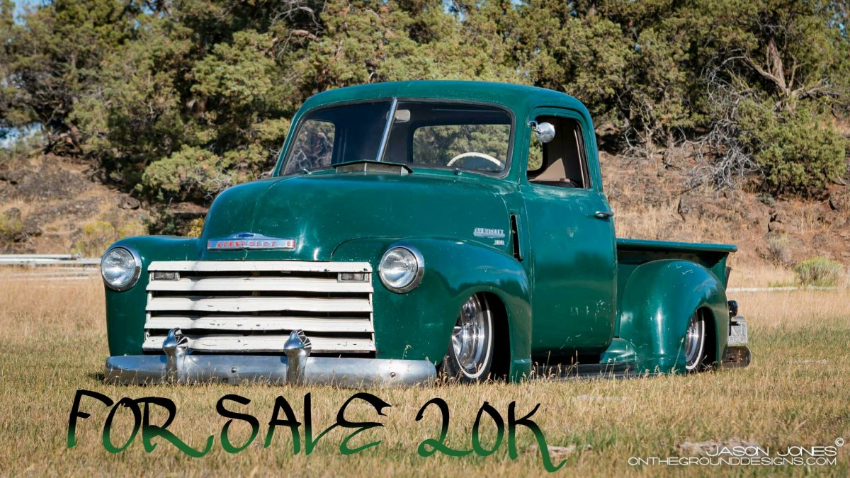 Bagged 49 Chevy 3100