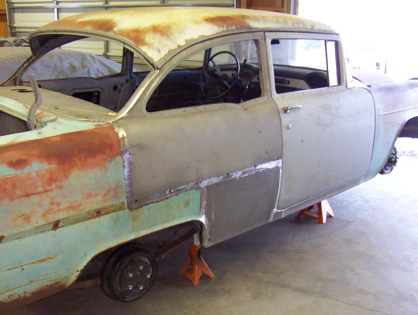 Door conversion converting a four door mopar to two doors for 1955 chevy 4 door to 2 door conversion