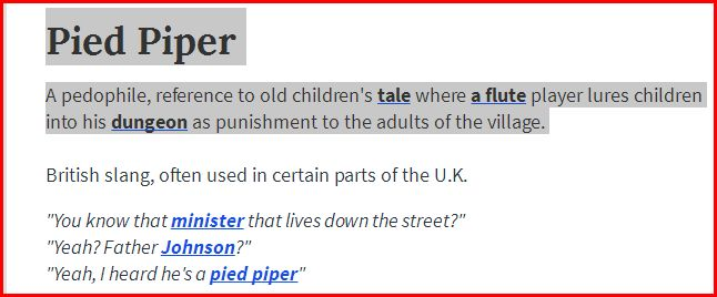 Pied piper urban dictionary